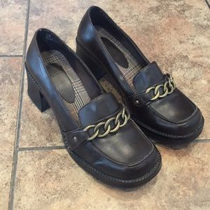 Vintage platform 90's oxford loafers secretary 7.5